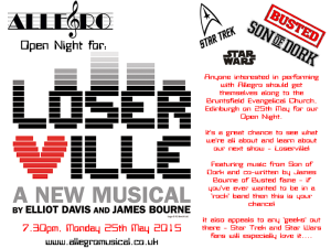 Loserville Open Night Flyer