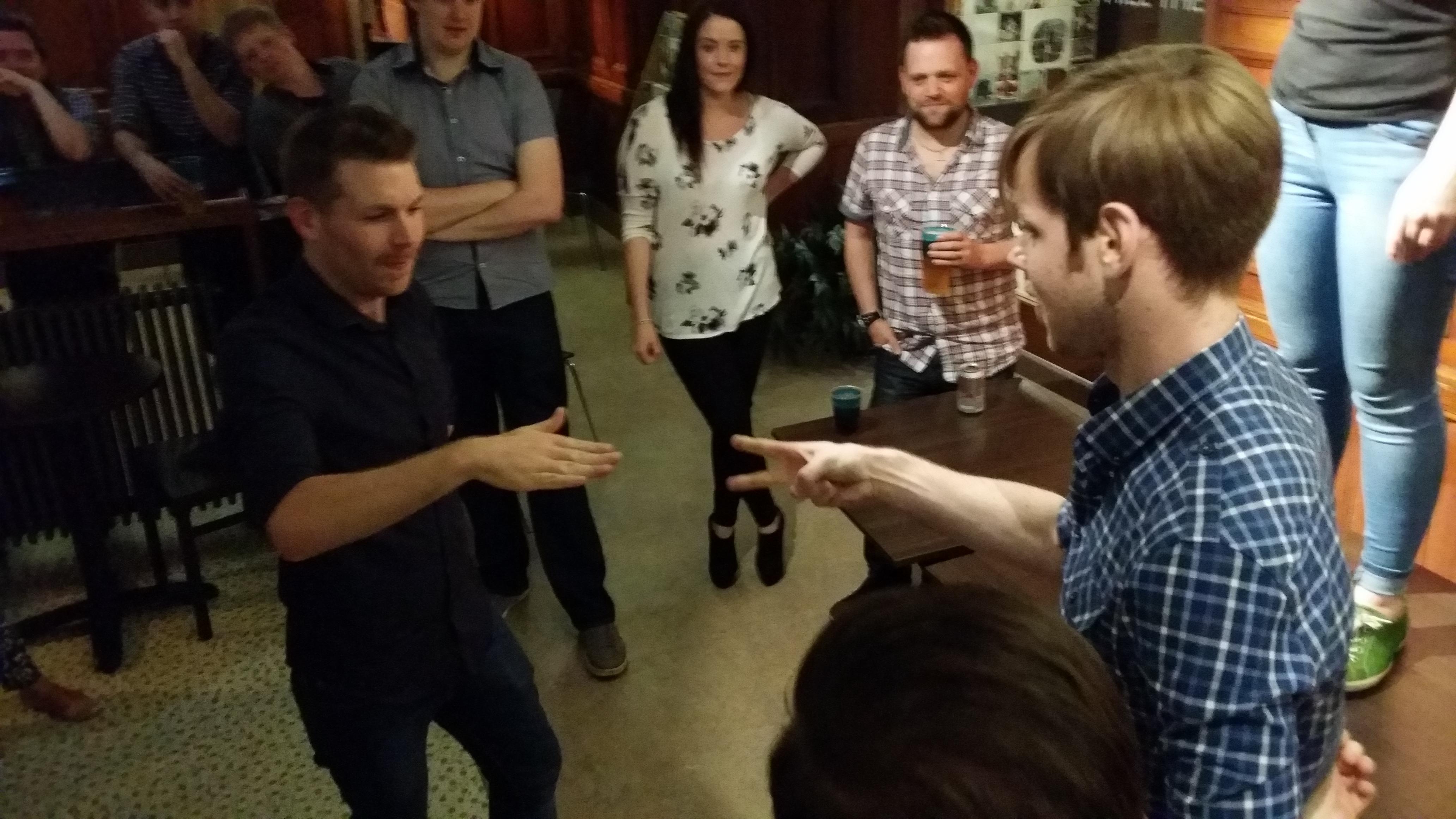 'Rock, Paper, Scissors, Lizard, Spock' final - the more traditional scissor cuts paper wins it for Thomas
